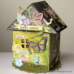 Anna-Karin: Blueprint stamped Easter House http://sizzixblog.blogspot.com/2013/03/easter-house.html#