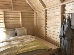 """Designed by Linda Bergroth, KOTI — meaning """"home"""" in Finnish — celebrates the shared experience of a summer-cottage sleepover in Finland. The living pop-up installation is comprised of six cottages available to book on Airbnb for 100 days from january till may 2017."""
