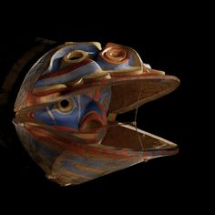 Heiltsuk (Bella Bella) Mask Used in Clam Dance, circa 1900. British Columbia, Canada. National Museum of the American Indian (Smithsonian)