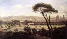 Gaspar Van Wittel, View of Florence from Via Bolognese, 1695