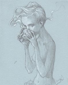 Matcha. One of the original drawings that was included with the Art Edition of Zugzwang. James Jean art.