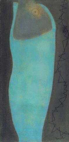 "William Baziotes (1912-1963) Dusk, 1954 Oil on canvas, 37 in x 17 in ""I want my pictures to take effect very slowly, to obsess and to haunt. -WB"