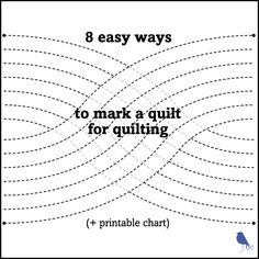 8 easy ways to mark a quilt for quilting                                                                                                                                                                                 More
