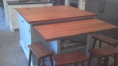 Antique Heart Pine Island Top by SouthwoodMillwork on Etsy, $73.00