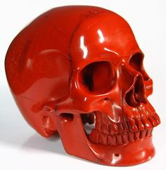 Red Jasper Crystal Skull -- Perfect for my living room...goes with my other red crystal skull!