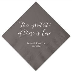 The Greatest of These is Love  Personalized by GraciousBridal