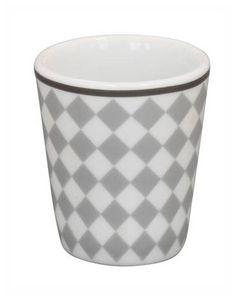 Krasilnikoff - Happy Mug - Harlekin grau