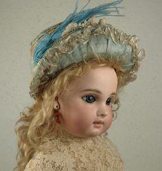 Wonderful Antique Original French Straw Hat circa 1880's for Jumeau, Bru, Steiner other French Doll