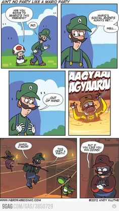 Why do people even go to Mario's parties?