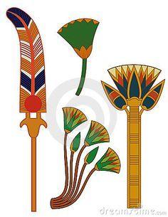 Egypt Ornament& Lotus Flowers Stock Vector - Illustration of beautiful, egypt: 10257531 Egyptian Symbols, Egyptian Art, Egyptian Drawings, Egypt Design, Ancient Egypt Art, Motif Floral, Art Deco Design, Islamic Art, Art Nouveau