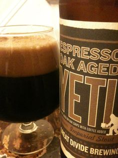 """Espresso Oak Aged Yeti Imperial Stout"" from Great Divide"