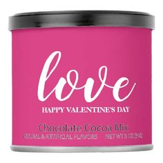 Hot Chocolate - love Happy Valentine& Day Hot Chocolate Drink Mix - valentines day gifts love couple diy personalize for her for him girlfriend boyfriend Valentines Day Chocolates, Valentine Chocolate, Valentines Day Party, Gifts Love, Pink Gifts, Hot Chocolate Mix, Love Girlfriend, Saint Valentine, Candy Jars