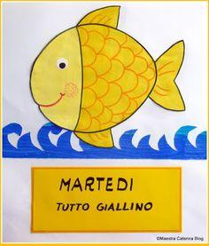 Maestra Caterina - Filastrocca della settimana del pesciolino Cambiacolore Pre School, Pikachu, Kindergarten, Crafts For Kids, Dads, Clip Art, Activities, Education, Children