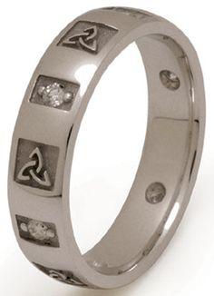 Trinity Knot Wedding Band with Diamonds