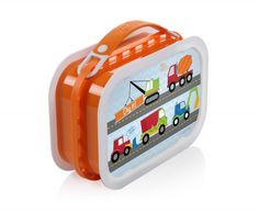 Orange Lunchbox with Under Construction Faceplate Set
