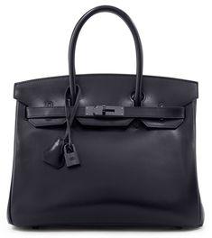 HERMÈS LIMITED EDITION SO BLACK BIRKIN IN BLACK CALFBOX LEATHER, 30CM Bidding Starts at $7,500 via Christie's