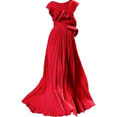 Satinee's collection - Elie Saab ❤ liked on Polyvore featuring dresses, gowns, long dresses, satinee, elie saab, red ball gown, red evening gowns, elie saab gowns and red gown