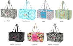 Custom personalized carry all tote large by MonogramEnvyBoutique, $30.50