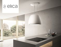 Island hood with integrated lighting ÉDITH By Elica design Fabrizio Crisà Island Extractor Hoods, Island Cooker Hoods, Island Hood, Kitchen Interior, Kitchen Design, Kitchen Ideas, Herd, Island Lighting, Lighting Design