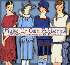 Sew 1920s Frocks - Easy - Make your own Dress Patterns and MORE -THINK Downton Abbey - PDF e-Booklet - $5.00