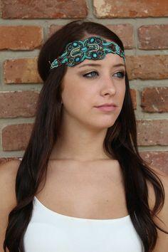 "Luna Boutique - ""Suzanne"" Pink Pewter Headband, $55.00 (http://www.shoplunaboutique.com/suzanne-pink-pewter-headband/)"