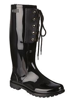 Boots - sho pr205 rain boot hook-r - Black Diesel on MonShowroom.com