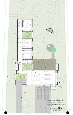 Image 22 of 25 from gallery of L House / Estudio PKa. Modern House Plans, Small House Plans, Modern House Design, House Floor Plans, L Shaped House, Architectural Floor Plans, Villa Plan, Courtyard House, House Layouts