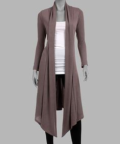 Another great find on #zulily! Gray Open Duster by California Trading Group #zulilyfinds