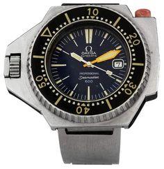 """Armbanduhr """"Omega"""" 70-er Jahre. """"Omega Seamaster 600"""". Stahlgehäuse und Stahlarmband. Signiertes Zi — Taschen- und Armbanduhren"""