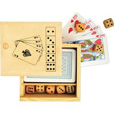 Karten Und Würfelspiel 'Nevada' In Holzbox  (Art.Nr.: 288851) - Zum Produkt bitte auf das Bild klicken.