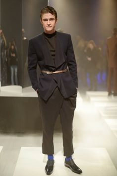 """Dyn Men's RTW Fall 2014 Photo by Clemens Bilan/Getty Images for Mercedes-Benz Fashion Week Berlin """"Studio 54 meets a modern, glamorous New Year's Eve party,"""" was how Frida Homann described her first Berlin Fashion Week presentation. For More"""
