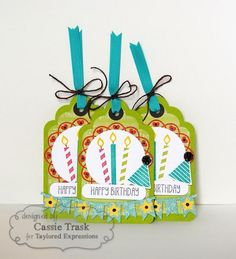Birthday Tags by CassieT - Cards and Paper Crafts at Splitcoaststampers