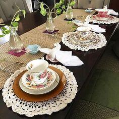 crochetwithwulan:- Terimakasih mbak yg sudah order.. Fotonya cantik banget rajutanku jadi ikutan cantik dehhh  . . #crochet #merajut #tatakanpiringrajut #tatakangelasrajut #coaster #doily #crochetdoily #crochetlace #jualrajutan #rajutanunik #vintage #homedecor #indonesia #yogyakarta #jakarta #uploadkompakan #shabbychic #modern