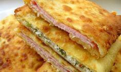 Super Frühstück: Joghurt-Taschen mit Schinken oder Käse gefüllt