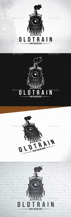 Old Train Logo Template — Photoshop PSD #old train #railroad • Available here ➝ https://graphicriver.net/item/old-train-logo-template/20546337?ref=pxcr