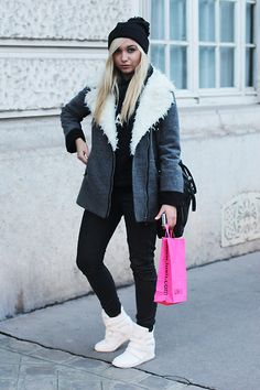 Get this look: http://lb.nu/look/7008620  More looks by Alice Cross: http://lb.nu/alicecross  Items in this look:  Oasap White Sheakers, Oasap Coat   #casual #chic #street