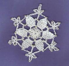 THREAD 'N' STITCHES: Star Bead Snowflake Pattern