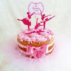 Naked Cake decorado com scrap e tutu #tutucake #scrapcake