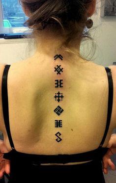 Zīmes Slavic Tattoo, Pagan Tattoo, Back Tattoo, I Tattoo, Tattoo Quotes, Sexy Tattoos, Cute Tattoos, Scientific Poster Design, Tattoo Salon