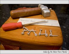 Detail from carpentry cake by Cakes by No More Tiers (York), via Flickr