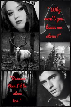 Alina Starcov and the darkling from the grisha trilogy