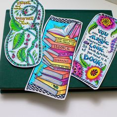 Free downloadable coloring bookmarks inspired by Dr. Seuss! | Get them from /tombowusa/!