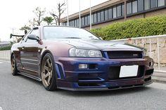 Nissan Skyline GT-R (limited edition) Midnight Purple III R34 Gtr, Nissan Gtr Skyline, Tuner Cars, Jdm Cars, Nissan R35, Performance Cars, Japanese Cars, Sport Cars, Dream Cars