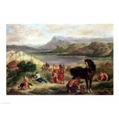 Posterazzi Ovid among the Scythians 1859 Canvas Art - Eugene Delacroix (36 x 24)