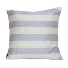 Silk Striped Cushion Cover 40 x 40cm|from Homecolours.com