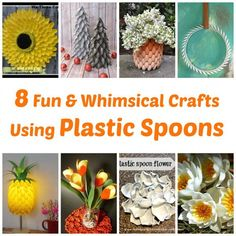 8 Fun and whimsical crafts using plastic spoons