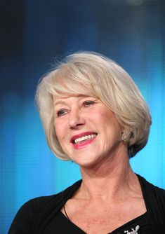 Bangs don't need to be super thick, but they need body. Helen Mirren has perfected this look!Photo Credit: Getty Images via StyleList