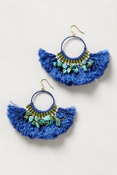 Tassel Bloom Hoops - anthropologie.com