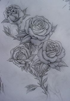roses tattoo- more of the style of what I'm looking for, four roses too!: