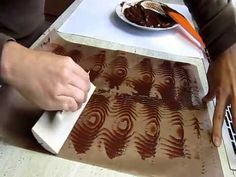 Chocolate tempering & Chocolate decoration/chocolat trempe & chocolat ornement - YouTube